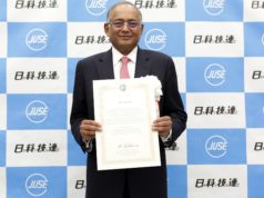 Mr. Venu Srinivasan - Chairman of TVS Motor Company receives Deming award