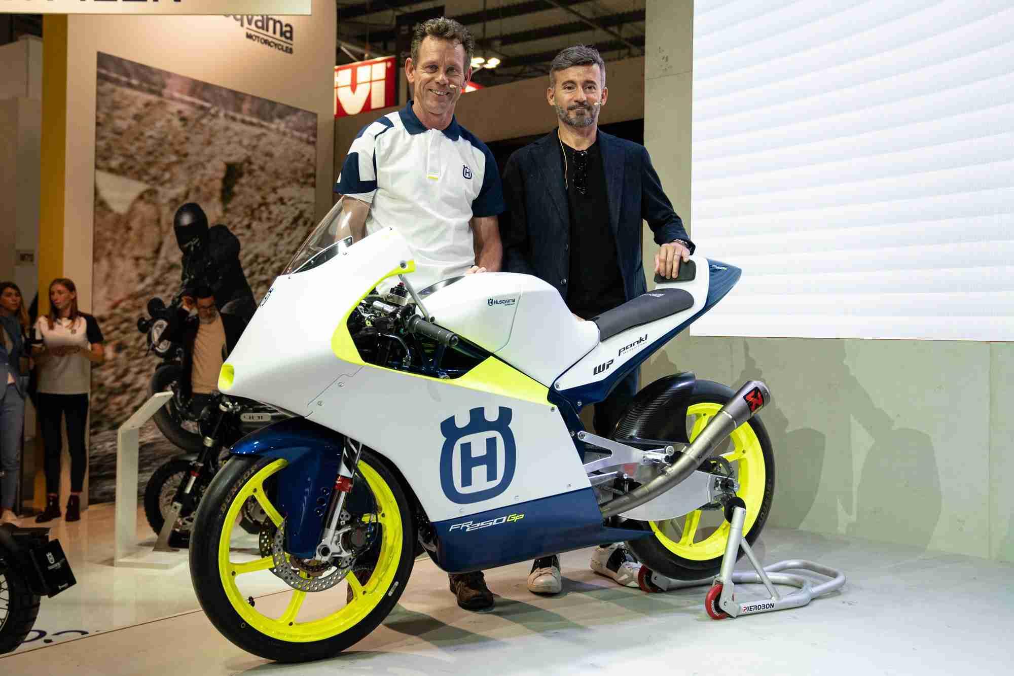 Peter Ottl and Max Biaggi - Max Racing Team Husqvarna FR 250 GP