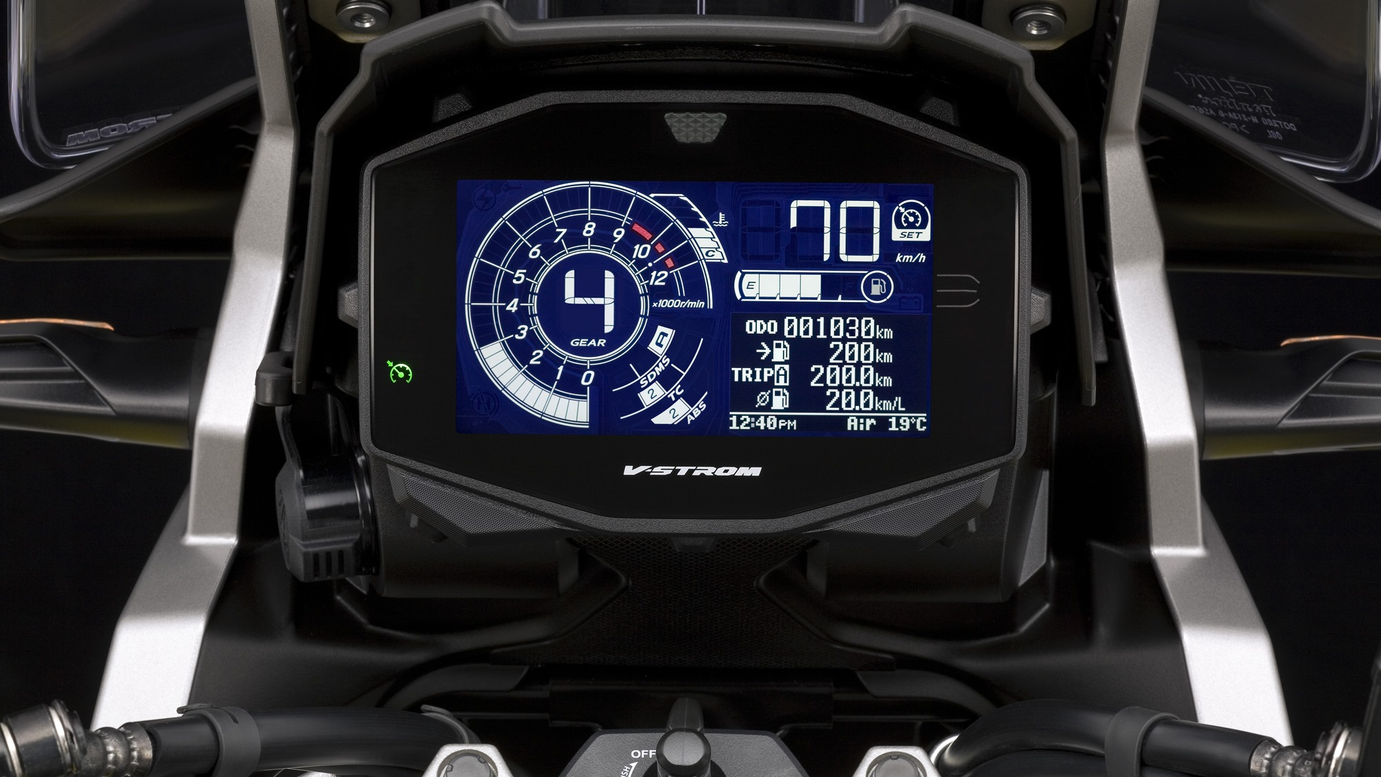 Suzuki V-Strom 1050XT and V-Strom 1050 digital meter tft screen