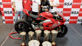Ducati wins the JK Tyre FMSCI Indian National Superbike Racing Championship for the second consecutive time with the Panigale V4