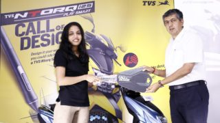 Ms Evanka T (Winner) with KN Radhakrishnan