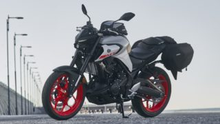 Yamaha MT-03 with all accessories