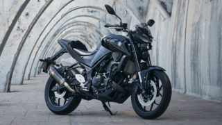 Yamaha MT-03 with power pack accessories