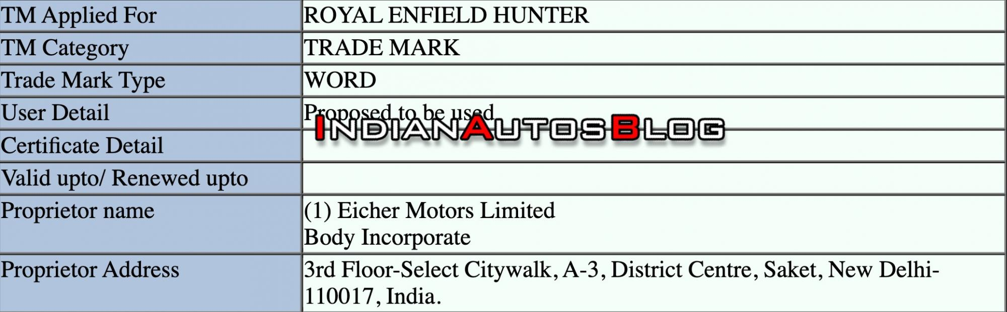royal-enfield-hunter-trademark-application-leaked