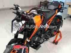 2020 BS6 KTM 200 Duke spy shot