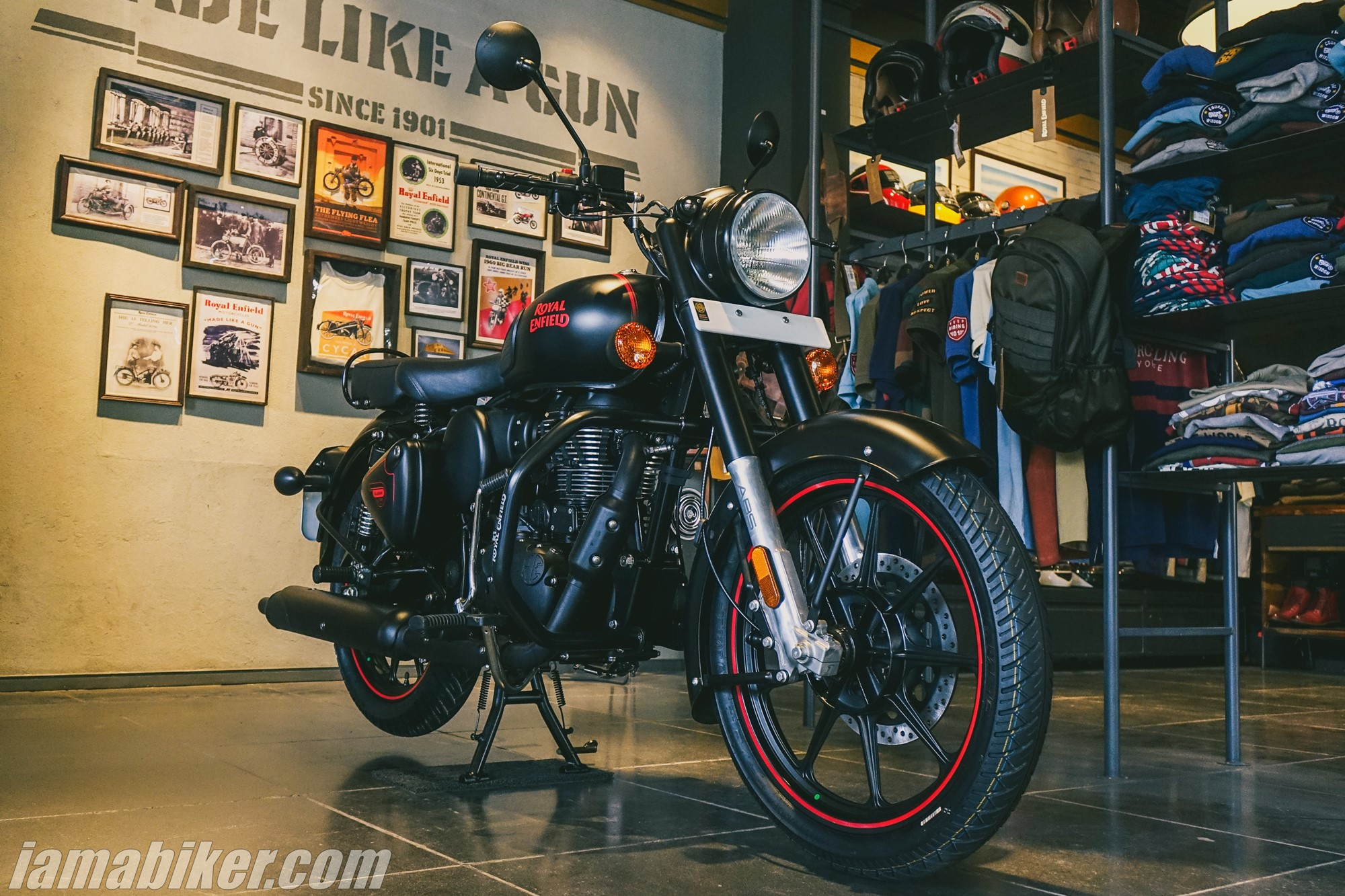 BS6 Royal Enfield Classic 350 Stealth Black with alloy wheels