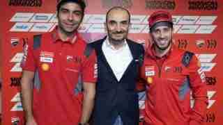 Danilo Petrucci Claudio Domenicali Andrea Dovizioso 2020 Ducati MotoGP