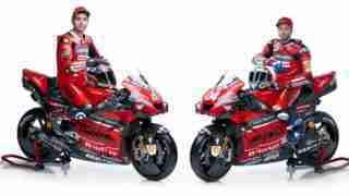 Dovizioso Petrucci and the Ducati Desmosedici GP 20