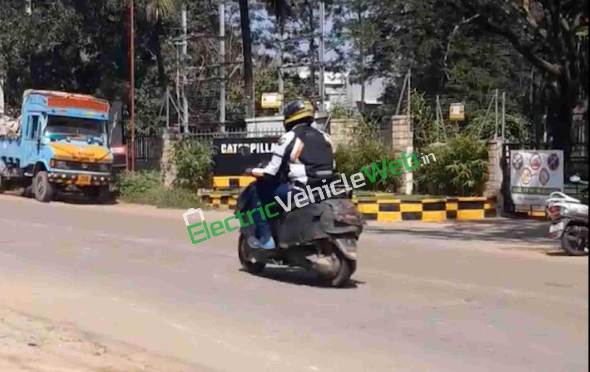 TVS electric scooter-spy shot