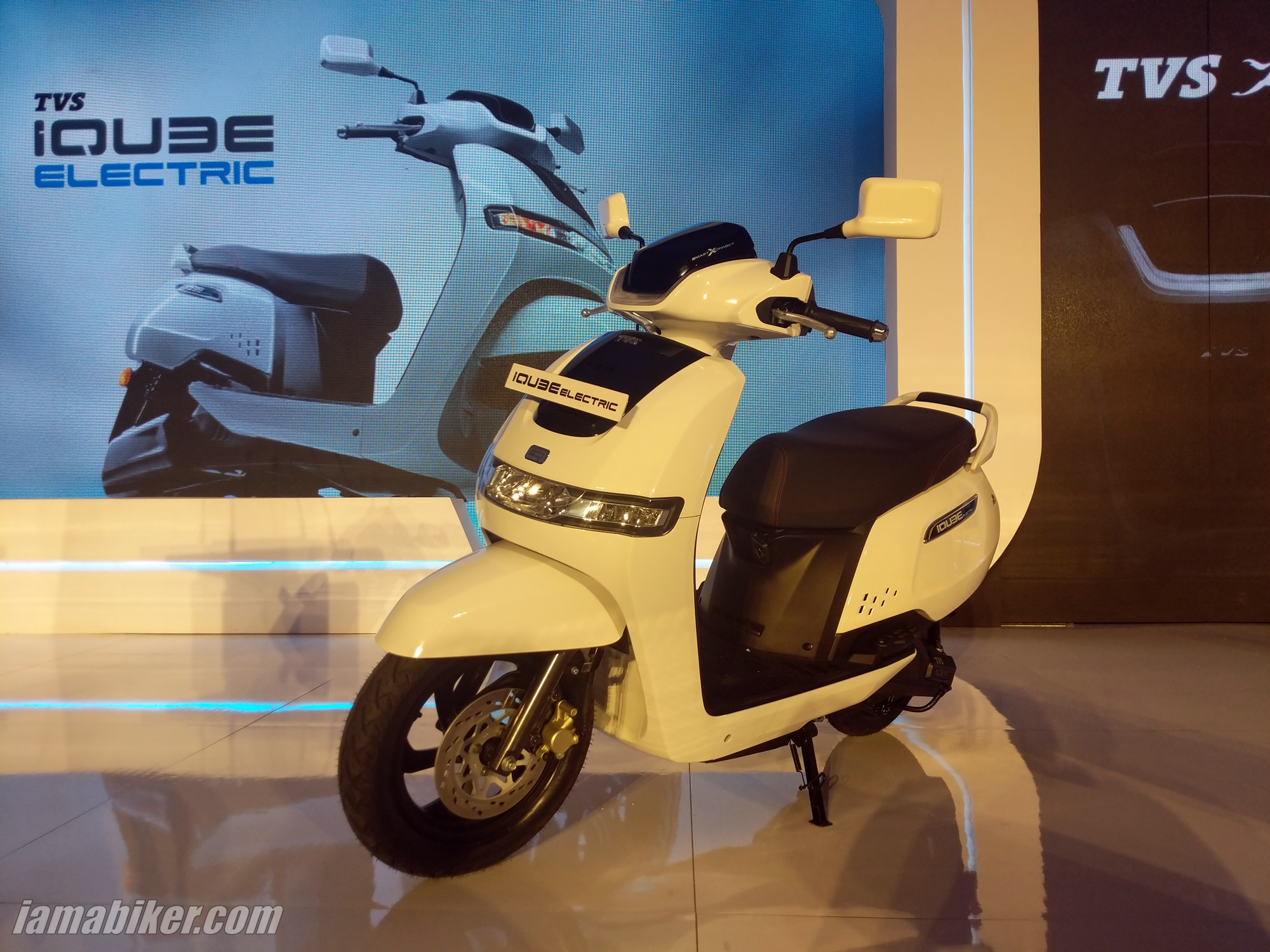 TVS iQUBE electric scooter front suspension and front disc brake