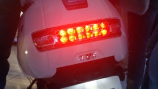 TVS iQUBE electric scooter lead tail and brake light