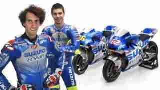 Alex Rins and Joan Mir 2020 Suzuki Ecstar MotoGP livery