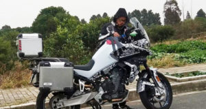CFMoto MT-800 spy shot