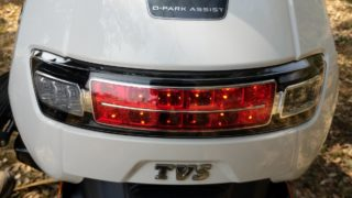 TVS iQube electric scooter LED brake light