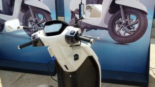TVS iQube electric scooter charging station
