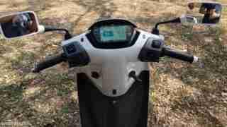 TVS iQube electric scooter digital meter tft screen