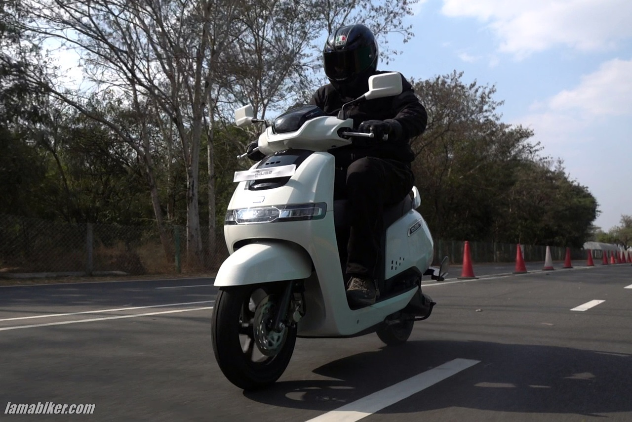 Review TVS iQube electric scooter