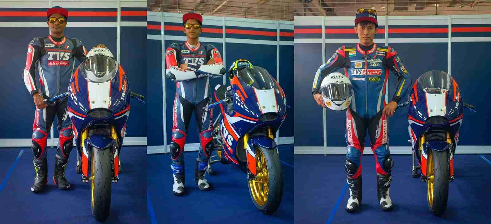 TVS Racing Asia Road Racing Championship 2020 riders team