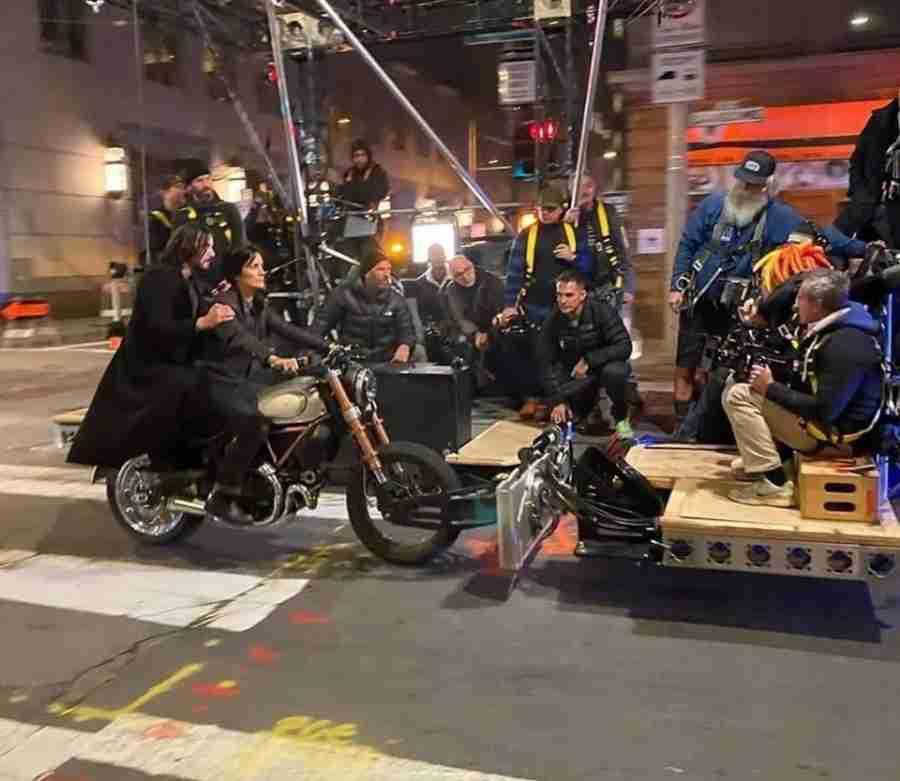 Ducati Scrambler In Matrix 4