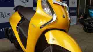 Yamaha Fascino 125 Fi in Yellow