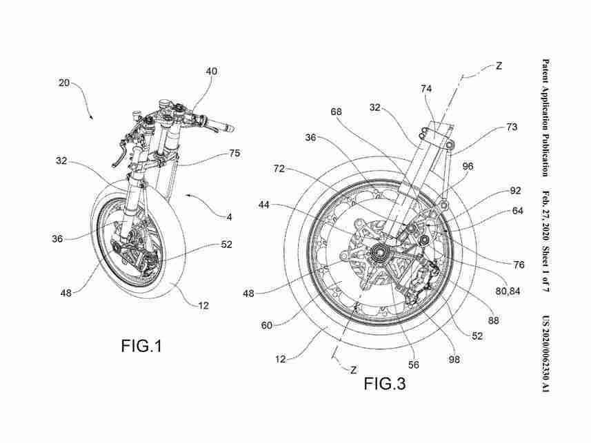Aprilia Anti-Dive Fork Patents