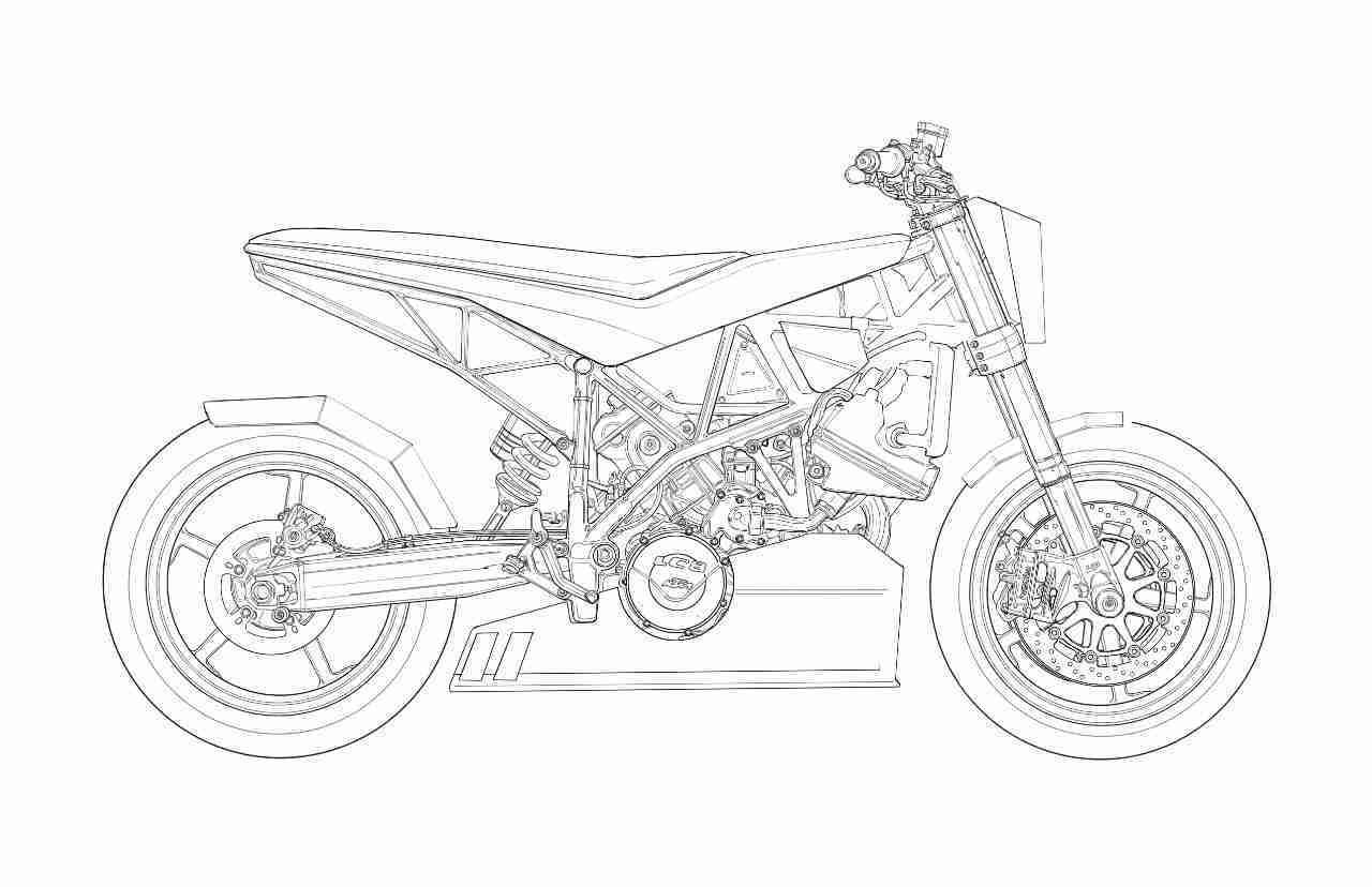 KTM 690 Sketch