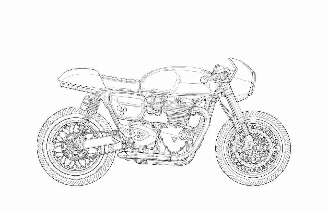 Triumph Thruxton Sketch