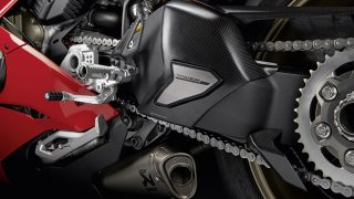 DUCATI PANIGALE V4 ACCESSORIES swing arm cover carbon fibre