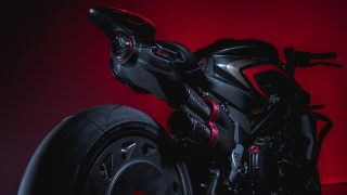MV Agusta Rush 1000 tail light and silencer