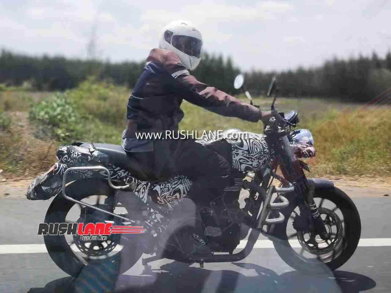 Royal Enfield Hunter Spy Images