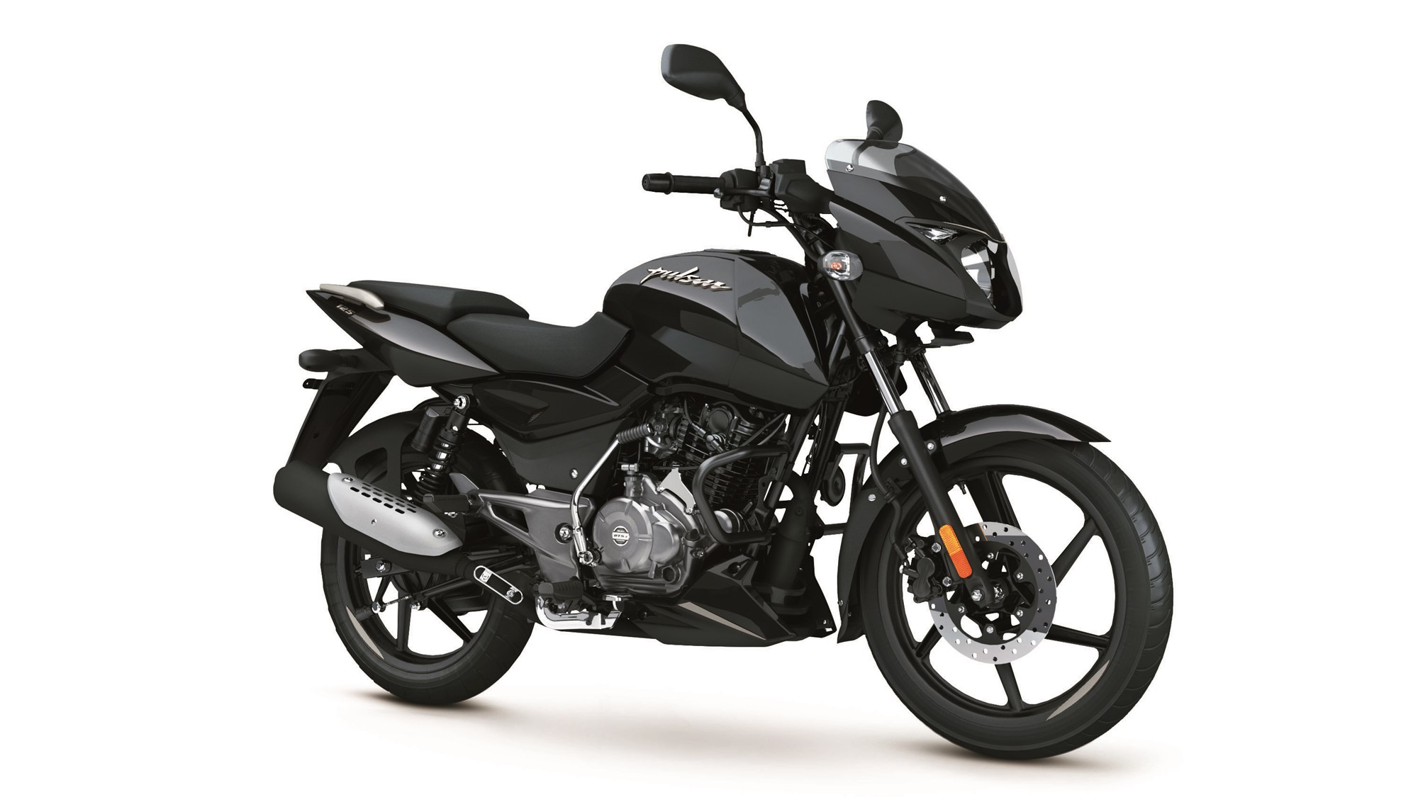 Bajaj Pulsar 125 Split Seat Black Silver colour option