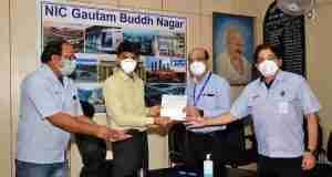 Yamaha donates Rs 25 lakh to District Magistrate, Gautam Buddh Nagar