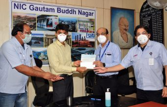 Yamaha donates Rs 25 lakh to District Magistrate, Gautam Buddh Nagar
