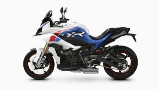 2021 BMW S 1000 XR - Light white uni - Racing blue metallic - Racing red uni left side view