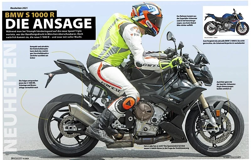 2021 BMW S 1000 R Spy Images