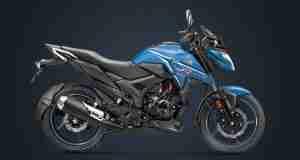 BS6 Honda X-Blade matte marvel blue metallic colour option
