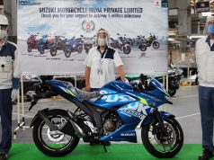 Suzuki Motorcycle Gurugram factory rolls out its 5 millionth two wheeler