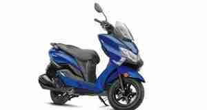 BS6 Suzuki Burgman Street Pearl Medium Blue colour option