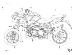 Aprilia Three Wheeled Motorcycle Patent
