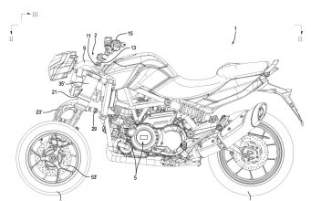 Aprilia Three Wheeled Motorcycle Patent