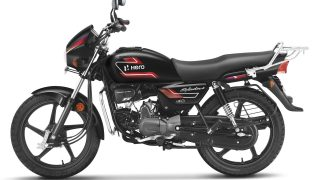 Hero Splendor+ Black and Accent in Bettle Red
