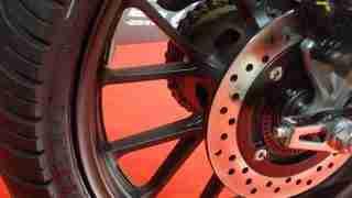 Honda H'ness CB 350 MRF Zapper Y tyres