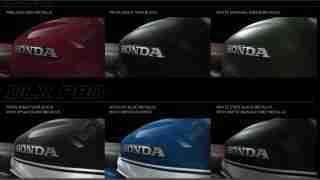 Honda H'ness CB 350 colour options