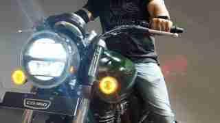 Honda H'ness CB 350 with rider