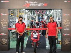 TVS Apache 4 Million Milestone