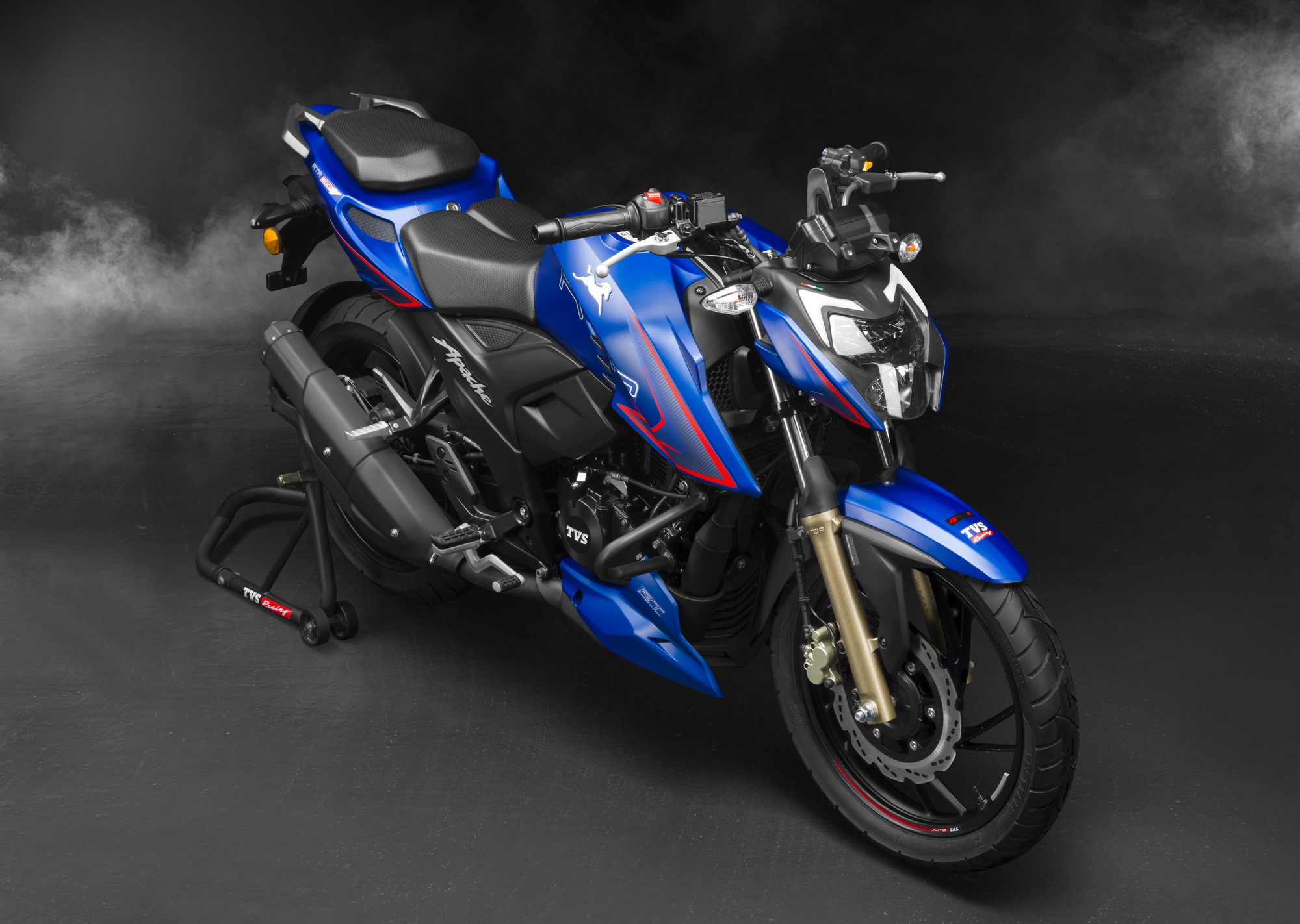 2021 TVS Apache RTR 200 4V gets riding modes, adjustable suspensions and levers