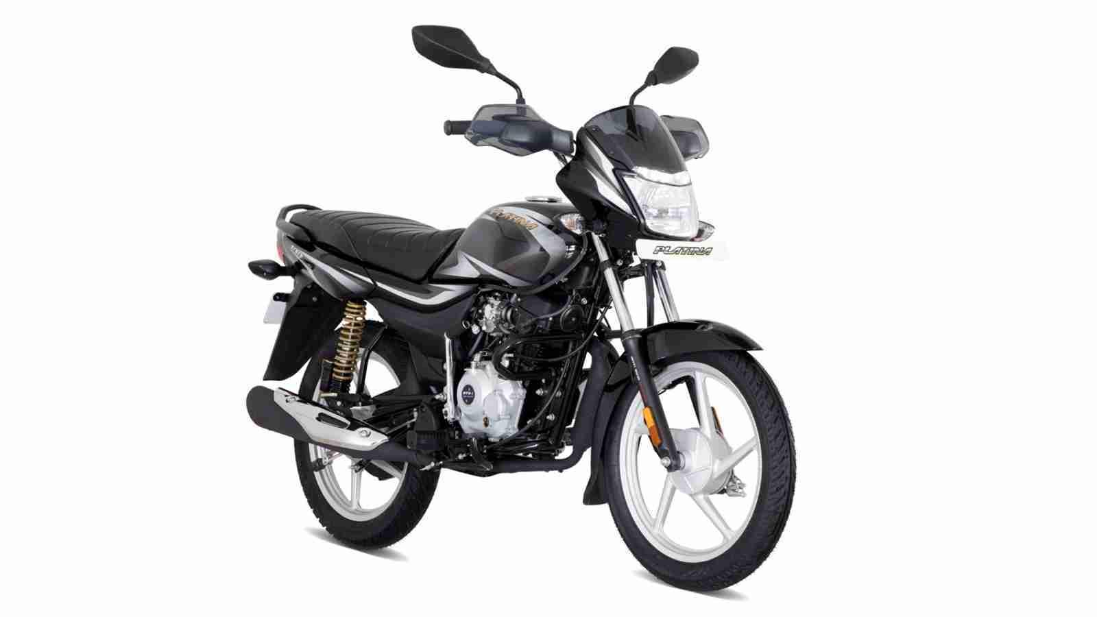 New Bajaj Platina 100KS - Ebony black with silver decals colour option
