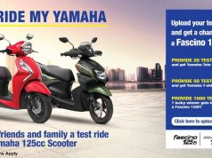 Test Ride My Yamaha campaign