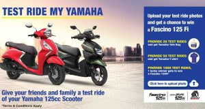 Test Ride My Yamaha campaign