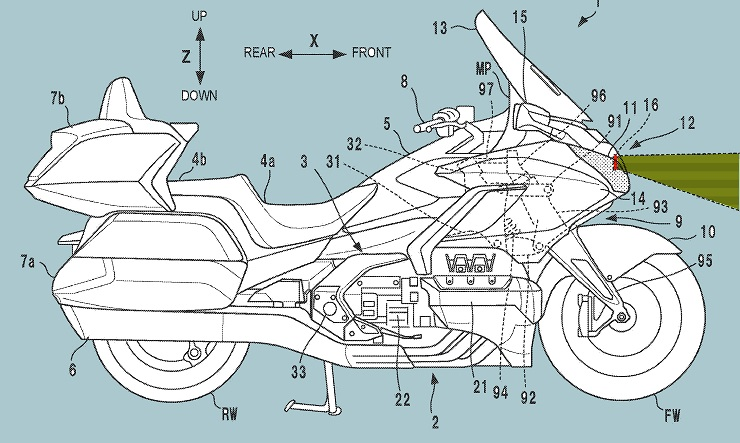 Honda Goldwing Radar Tech Patent Images